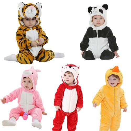 Pijamas de Animales: Disfraz de Bebé Original